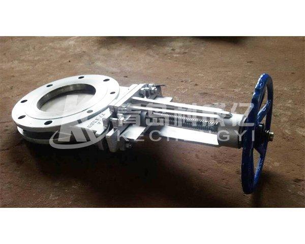 Manual slide plate valve